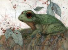 """""""Leap Frog"""" 1994 © Eileen Monaghan Whitaker N.A.  22.25x30.75 inches Watercolor"""
