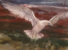 """""""Soaring"""" early 1970s © Eileen Monaghan Whitaker 22x30 inches Watercolor"""