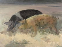 """Treasure Hunt"" 1964 Eileen Monaghan Whitaker 18x24 inches Watercolor"