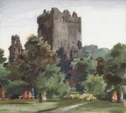 """Ross Castle, Killarney"" 1972 © Frederic Whitaker 22x30 inches Watercolor"