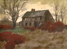 """""""The House is Haunted"""" 1972 © Frederic Whitaker N.A. 22x30 inches Watercolor"""