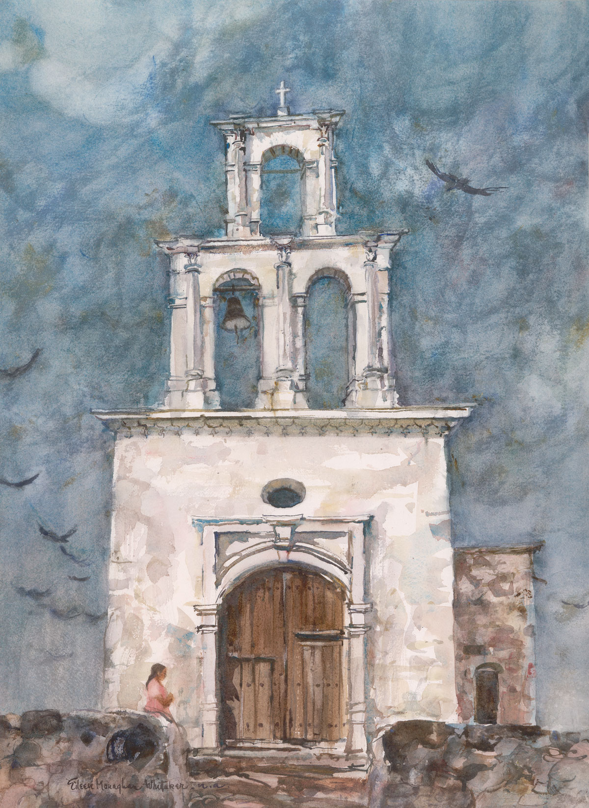 """Capilla De Zapopan"" 1978 © Eileen Monaghan Whitaker N.A. 27.5x22 inches Watercolor"