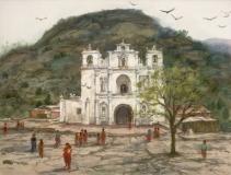 """Capilla de San Antonio"" 1991 © Eileen Monaghan Whitaker N.A.  22x30 inches Watercolor"