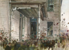 """Nostalgia"" 1966 © Eileen Monaghan Whitaker 16x22 inches Watercolor"