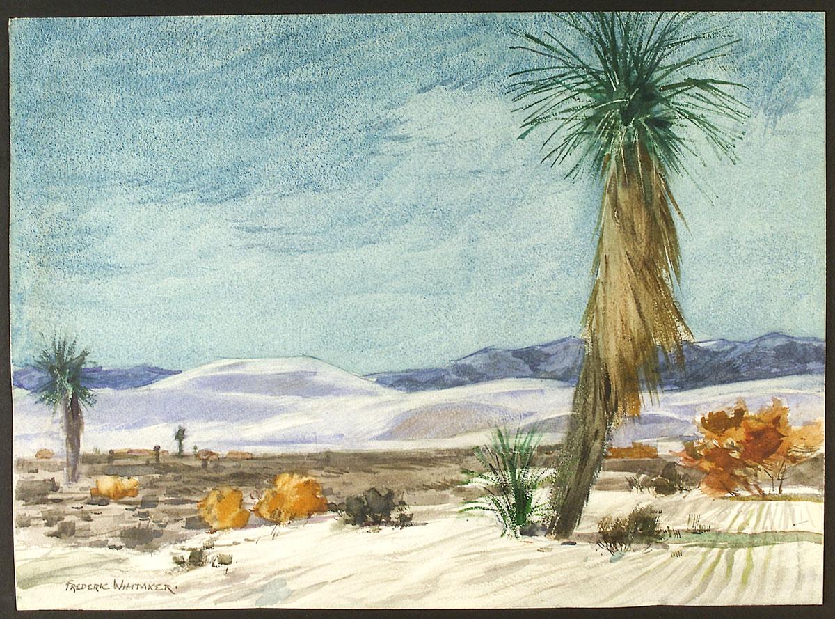 """""""Desert Scene"""" © Frederic Whitaker 16x22 inches Watercolor"""
