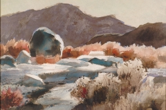 """Big Bend Note"" 1956 © Frederic Whitaker N.A.  16x22 inches Watercolor"