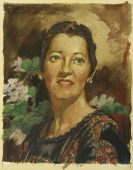 """""""Portrait of Eileen"""" 1958 © Frederic Whitaker 19.75x15 inches"""