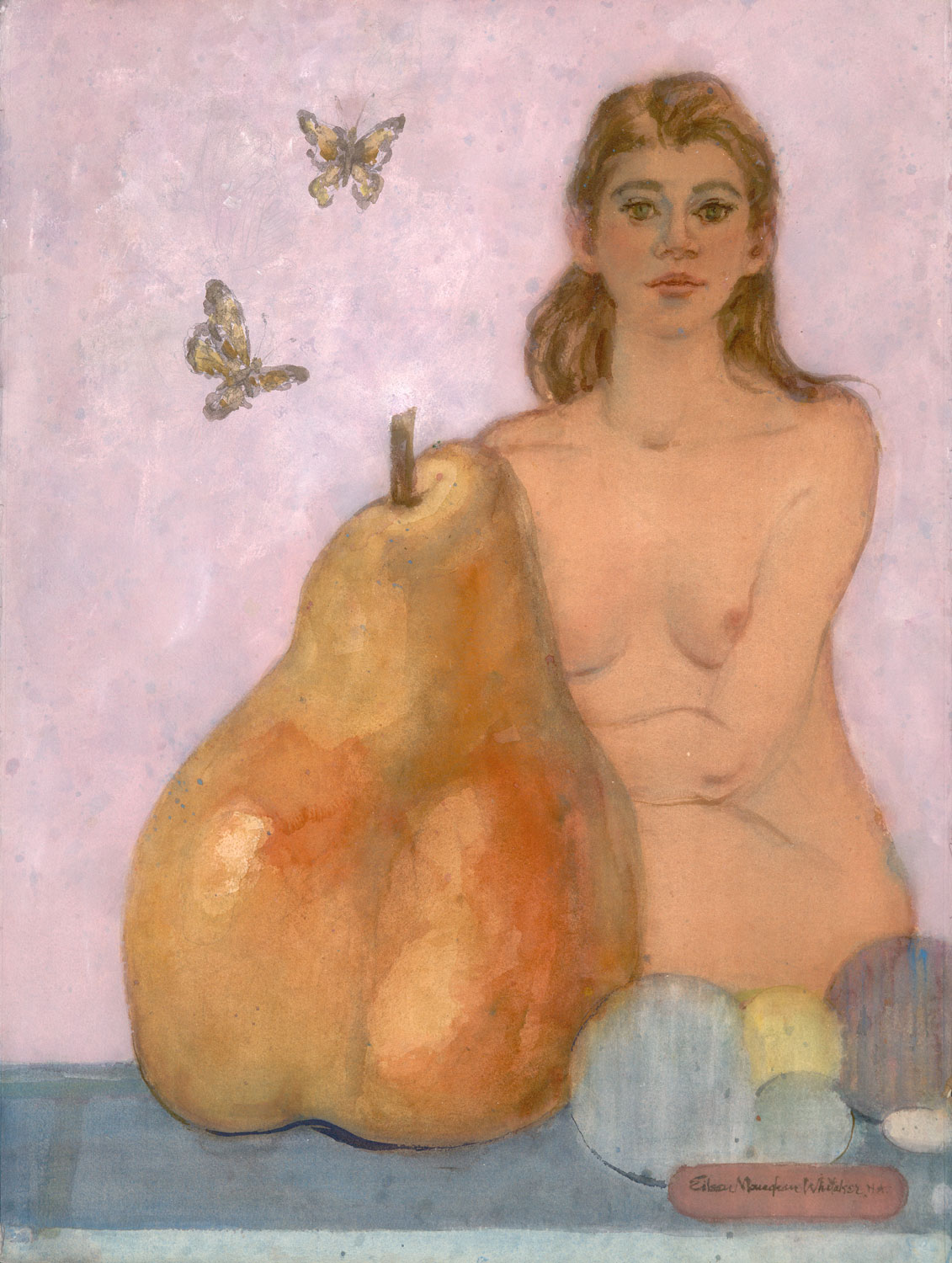 """The Pear Story"" 1999 © EIleen Monaghan Whitaker N.A. 30x22.5 inches Watercolor"