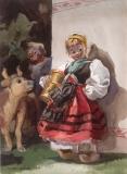 """Katrina the Dutch"" © Frederic Whitaker Watercolor"
