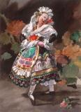 """""""La-Salmantina"""" 1960s © Frederic Whitaker 22x16 inches Watercolor"""