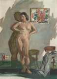 """""""Vignette in Low Key"""" 1948 © Frederic Whitaker 27.5x20 inches Watercolor"""