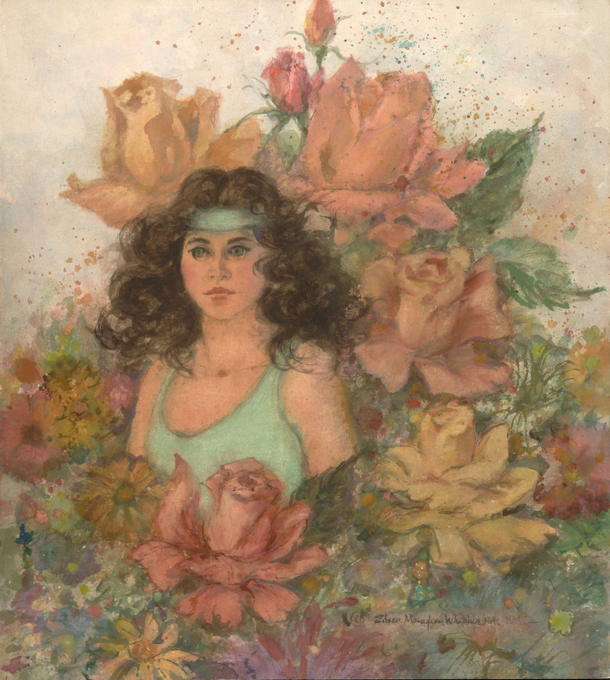"""The Name is Rose"" 1986 © Eileen Monaghan Whitaker N.A. 24.5x22 inches Watercolor"
