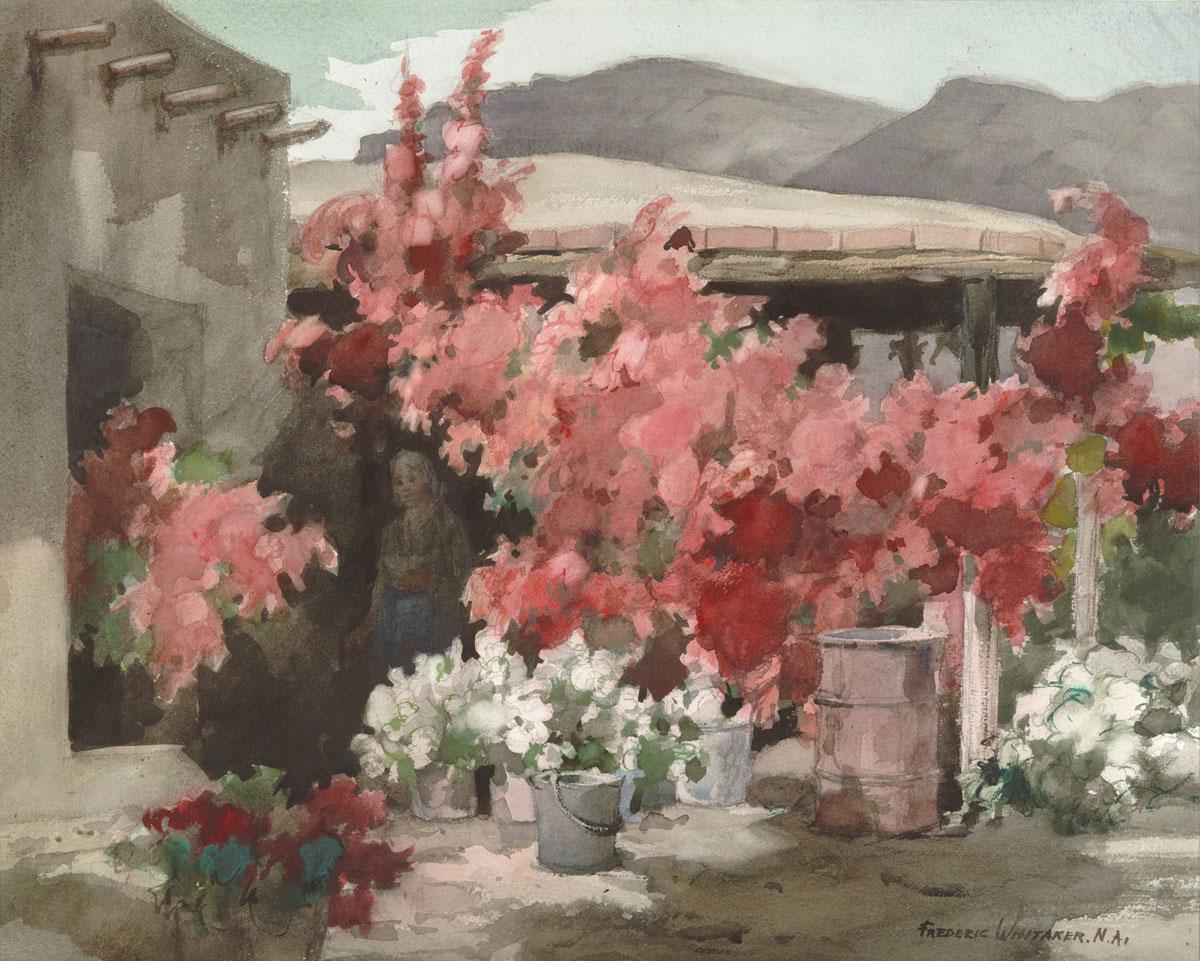 """""""La Casa de Las Flores"""" 1966 © Frederic Whitaker 22x30 inches"""