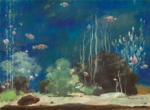 """Aquarium"" © Frederic Whitaker 22x30 inches Watercolor"