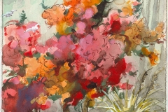 """""""Bougainvillas"""" © Frederic Whitaker 10.5x11 inches Watercolor"""