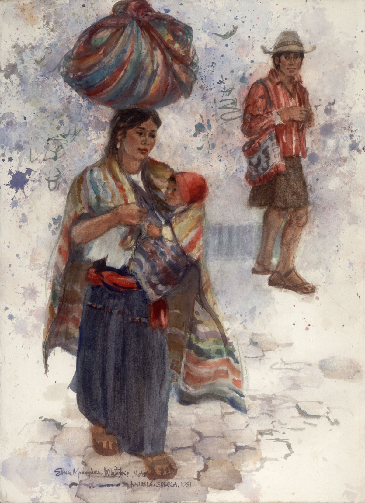"""""""Nahuala"""" 1991 © Eileen Monaghan Whitaker 22x16 inches Watercolor"""