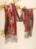 """""""Ancient Design"""" 1989 © Eileen Monaghan Whitaker N.A.  30x22 inches Watercolor"""