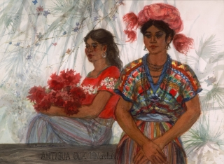 """Antigua Guatemalan"" 1989 © Eileen Monaghan Whitaker N.A.  22x30 inches Watercolor"