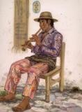 """Chirmia Music"" 1990 © Eileen Monaghan Whitaker N.A.  22x30 Watercolor"