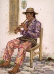 """Chirmia Music"" 1990 © Eileen Monaghan Whitaker 22x30 Watercolor"