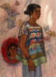 """Heirloom"" 1989 © Eileen Monaghan Whitaker N.A.  22x30 inches Watercolor"