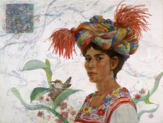 """Maya"" 1991 © Eileen Monaghan Whitaker 22x30 inches Watercolor"