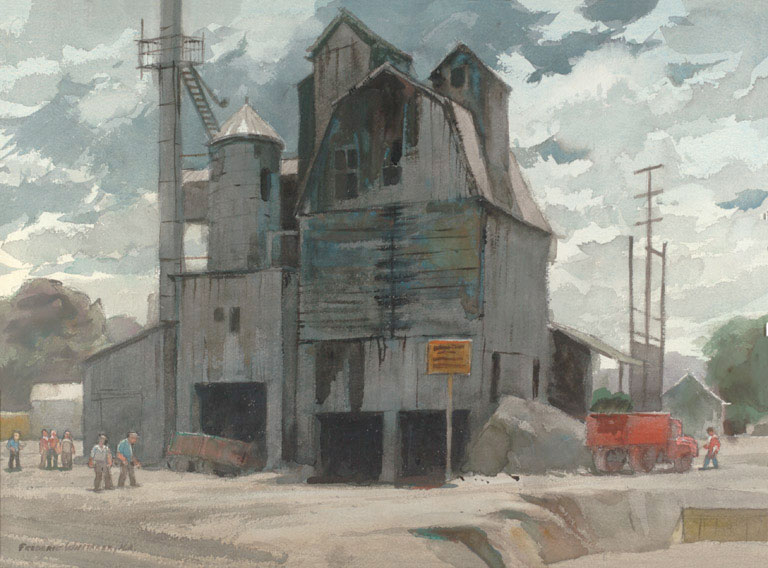 """""""Crusher No. 2"""" 1970 © Frederic Whitaker N.A.  22x30 inches Watercolor"""