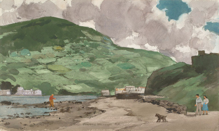 """""""Ireland, Where Else? 1973 © Frederic Whitaker 18x30 inches Watercolor"""
