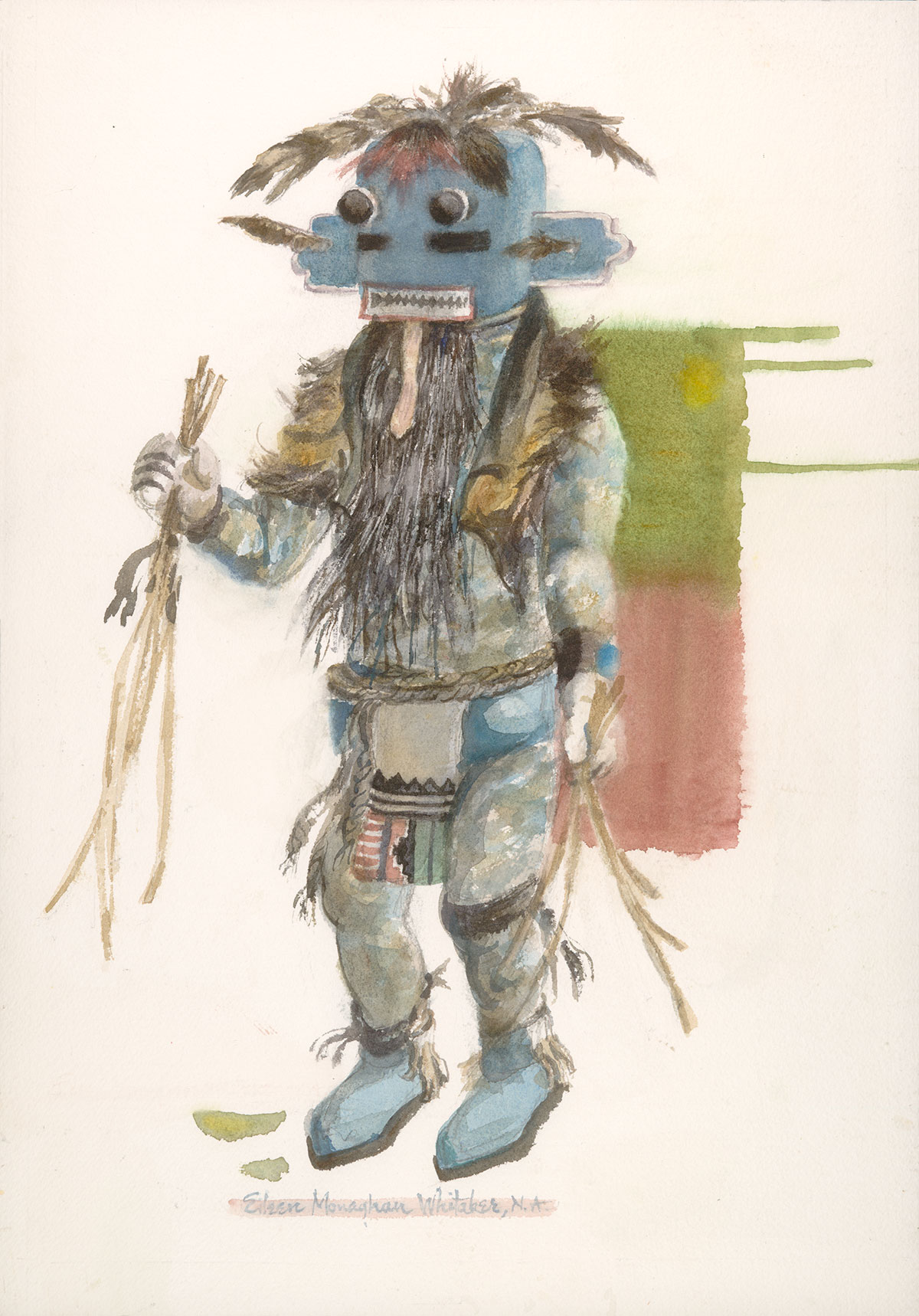 Kachina Long Beard © Eileen Monaghan Whitaker 20x14