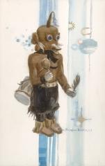 """Kachina Koyemsi"" 1983 © Eileen Monaghan Whitaker 20x14 inches Watercolor"
