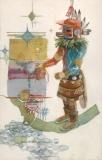 """Kachina Marao"" 1983 © Eileen Monaghan Whitaker 22x14 inches Watercolor"