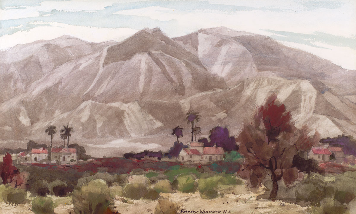 """Design for a Mountain"" 1970 © Frederic Whitaker N.A. 30x18 Watercolor"