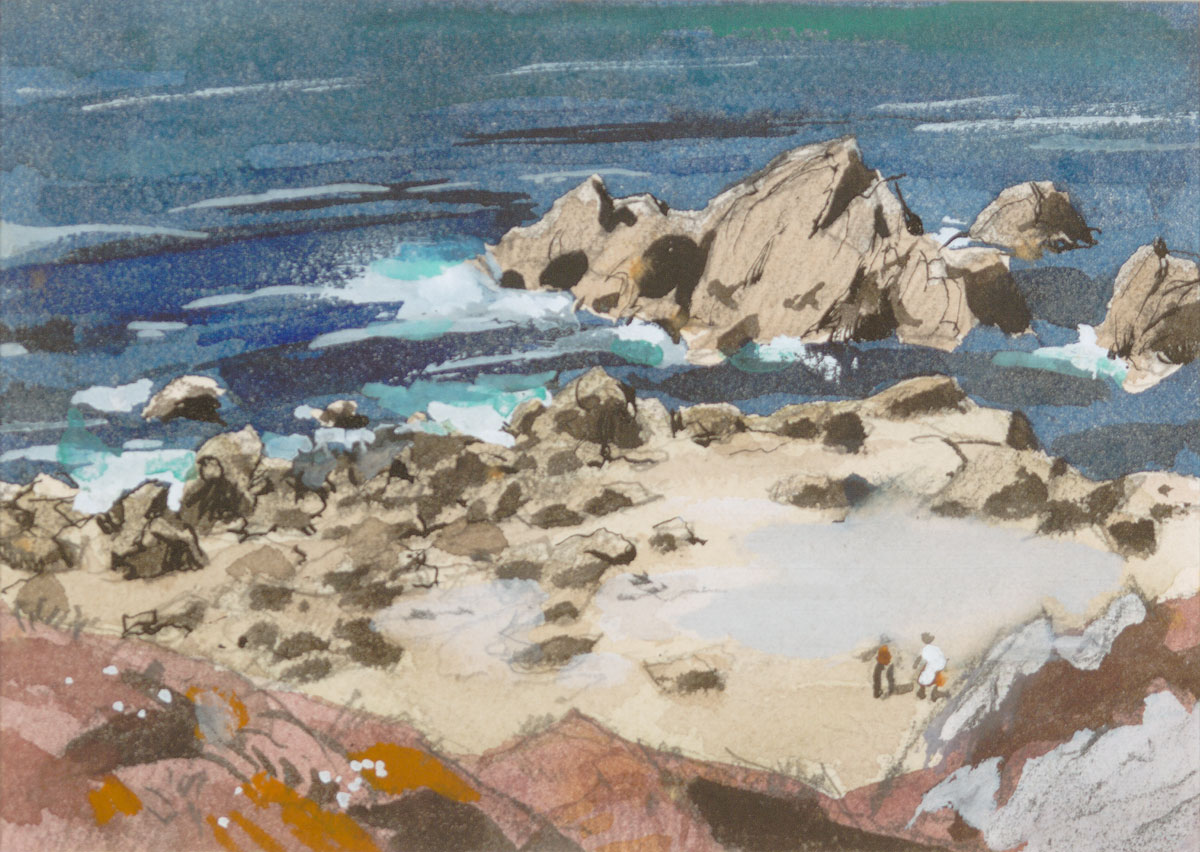 """Low TIde"" 1974 © Frederic Whitaker 22x30 inches Watercolor"