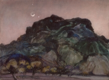 """Dark Mountain"" 1964 © Eileen Monaghan Whitaker 22x30 inches Watercolor"