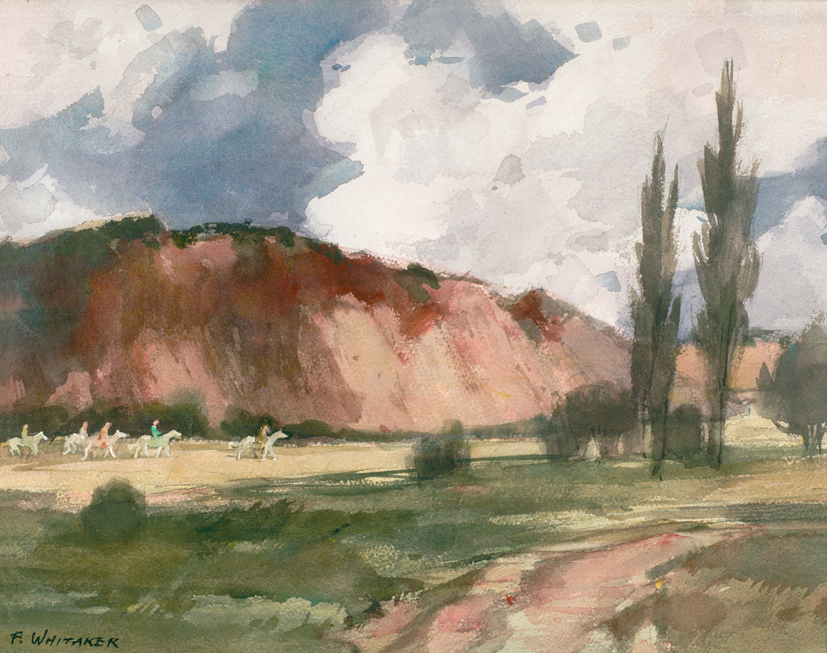 """""""Red Soil Country"""" © Frederic Whitaker Watercolor"""