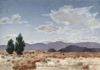"""Autumn in the Desert"" 1973 © Frederic Whitaker N.A.  14x20 inches"