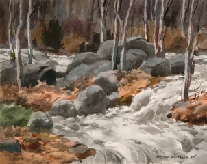 """Busy Brook"" 1970 © Frederic Whitaker N.A.  22x27.5 inches"