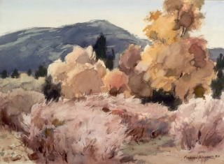 """Cottonwood Country""1969 © Frederic Whitaker 22x30 inches"