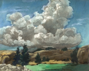 """Cumulo Nimbus"" 1970 © Frederic Whitaker N.A.  22x27.5 inches"