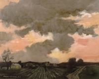 """Curious Cloud"" 1970 © Frederic Whitaker N.A.  22x27.5 inches"