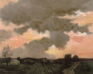 """Curious Cloud"" 1970 © Frederic Whitaker 22x27.5 inches"