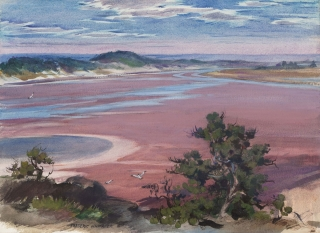 """Fundy, Low Tide"" 1951 © Frederic Whitaker N.A.  16x22 inches"