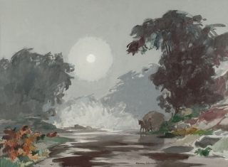 """Morning Mist"" 1966 © Frederic Whitaker N.A.  22x30 inches"