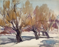 """""""Yellow Willows"""" 1938 © Frederic Whitaker N.A.  size unknown"""