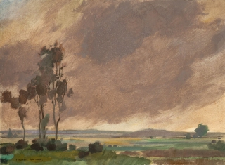 """""""Brooding Cloud"""" No. 5 © Frederic Whitaker  N.A. Watercolor"""