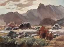"""""""San Jacinto Foothills"""" 1966 © Frederic Whitaker N.A.  22x30 inches"""