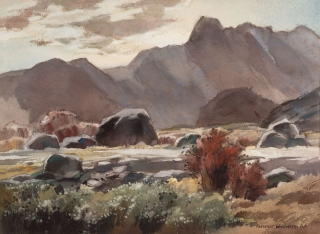 """San Jacinto Foothills"" 1966 © Frederic Whitaker 22x30 inches"