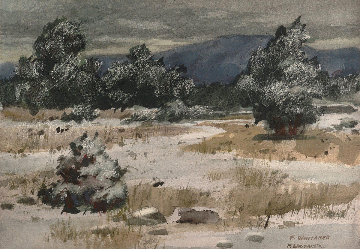 """""""Snow in the High Country"""" 1926 © Frederic Whitaker 16x22 inches"""