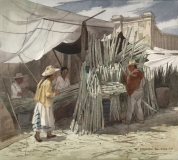 """""""Sugar Cane For Sale"""" 1973 © Frederic Whitaker 22x24.5 inches"""