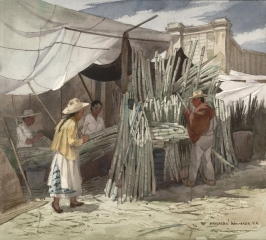 """Sugar Cane For Sale"" 1973 © Frederic Whitaker 22x24.5 inches"